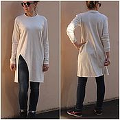 Одежда handmade. Livemaster - original item tunic knit rectangular milk slit. Handmade.