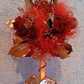 Цветы и флористика ручной работы. Ярмарка Мастеров - ручная работа Дерево с розами. Handmade.