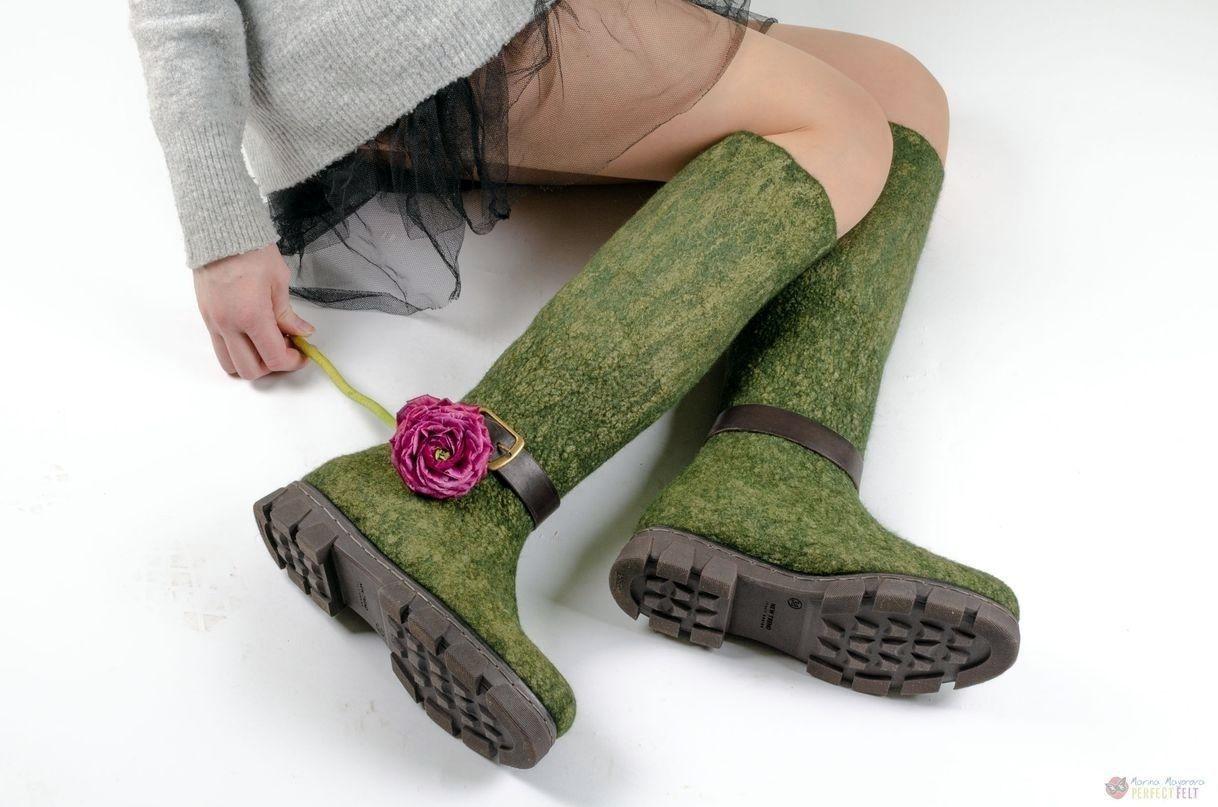 """Обувь ручной работы. Ярмарка Мастеров - ручная работа. Купить Сапоги женские валяные """"Queen lizard"""". Handmade. Сапоги"""