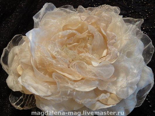 Броши ручной работы. Ярмарка Мастеров - ручная работа. Купить Текстильный цветок. Handmade. Текстильный цветок