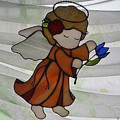 """Для дома и интерьера ручной работы. Ярмарка Мастеров - ручная работа """"Ангелок с подснежником"""". Handmade."""