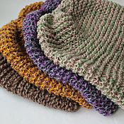 Аксессуары handmade. Livemaster - original item 100% hemp hat - for bath, sauna, street.. Handmade.
