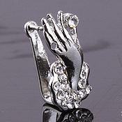 """Материалы для творчества ручной работы. Ярмарка Мастеров - ручная работа Бейл """"рука с кристаллом"""". Handmade."""