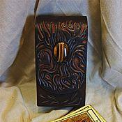 """Фен-шуй и эзотерика ручной работы. Ярмарка Мастеров - ручная работа Чехол для колоды среднего размера """"Крылья пламени"""". Handmade."""