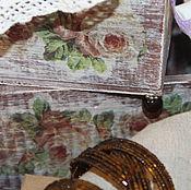 Для дома и интерьера ручной работы. Ярмарка Мастеров - ручная работа Набор. Деревянный ящик на изящных ножках. Handmade.