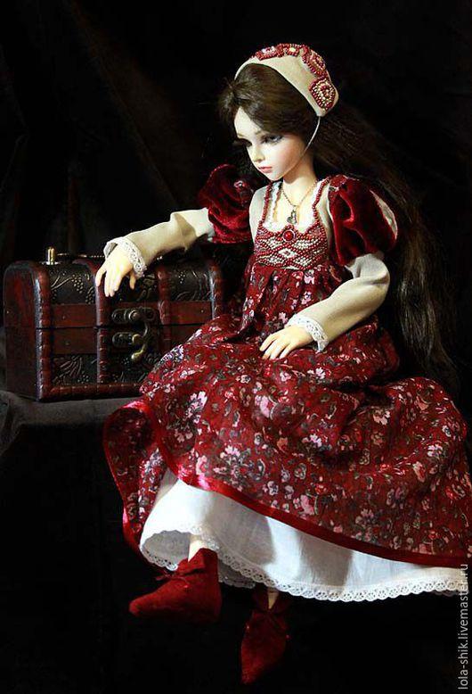 """Одежда для кукол ручной работы. Ярмарка Мастеров - ручная работа. Купить Одежда для кукол. Комплект """"Джульетта"""". Handmade. Бордовый, хлопок"""