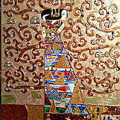 Картины и панно handmade. Livemaster - original item Gold painting Expectation. The Tree of Life, Gustav Klimt. Handmade.