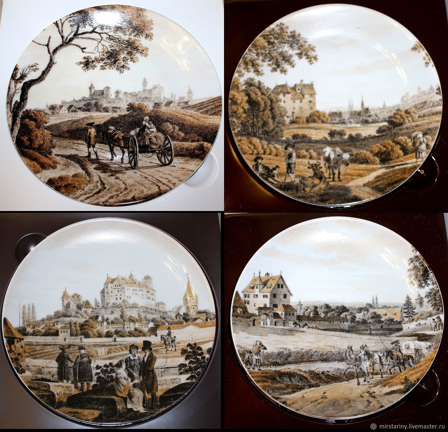 Magnificent set of plates 'Views of Nuremberg', Schirnding, Vintage interior, Moscow,  Фото №1