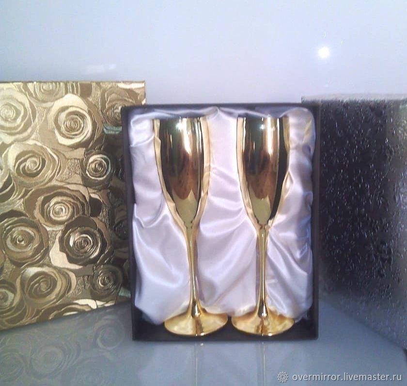 Подарки на свадьбу ручной работы. Ярмарка Мастеров - ручная работа. Купить Свадебные бокалы. Handmade. Свадебный декор, свадебный подарок