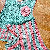 Работы для детей, ручной работы. Ярмарка Мастеров - ручная работа Комплект (жилет, юбка). Handmade.