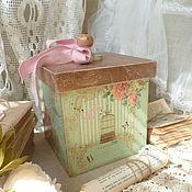 """Для дома и интерьера ручной работы. Ярмарка Мастеров - ручная работа короб"""" Весна в Париже"""". Handmade."""