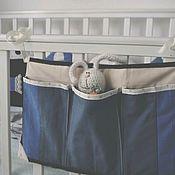 Кармашки на кроватку ручной работы. Ярмарка Мастеров - ручная работа Органайзер на кроватку. Handmade.