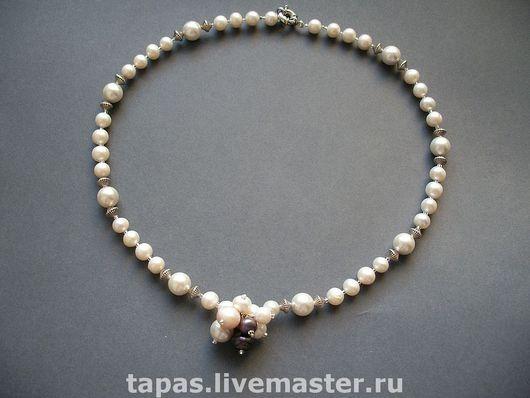 Колье, бусы ручной работы. Ярмарка Мастеров - ручная работа. Купить Ожерелье из жемчуга СКАТЕНЬ. Handmade. Ожерелье из жемчуга