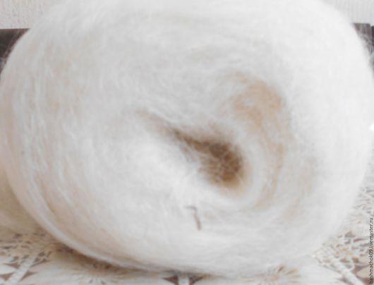 Валяние ручной работы. Ярмарка Мастеров - ручная работа. Купить Шерсть кардочес 500 г. Handmade. Белый, шерсть овечья