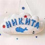 Для дома и интерьера ручной работы. Ярмарка Мастеров - ручная работа Именное панно для детской комнаты из фетра. Handmade.