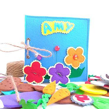 Куклы и игрушки ручной работы. Ярмарка Мастеров - ручная работа Книга из фетра 15х15 см.. Handmade.