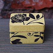 Для дома и интерьера handmade. Livemaster - original item Trinket box Black Peony in Yellow. Handmade.