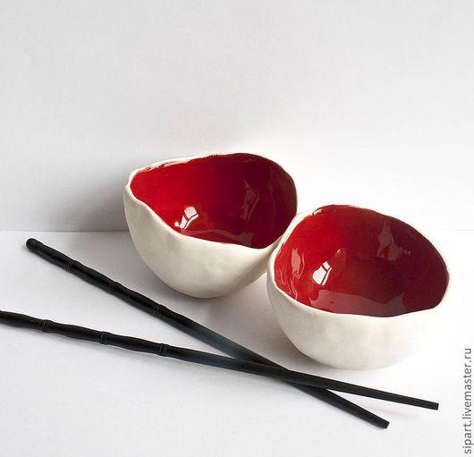 """Пиалы ручной работы. Ярмарка Мастеров - ручная работа. Купить Пиала-вазочка """"Аки Маки"""". Handmade. Ярко-красный, глазурь"""