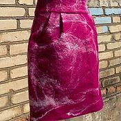 """Одежда ручной работы. Ярмарка Мастеров - ручная работа Войлочная Юбка """" Рубин """". Handmade."""