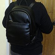 Сумки и аксессуары handmade. Livemaster - original item Backpack leather city 85. Handmade.