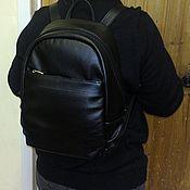 Сумки и аксессуары handmade. Livemaster - original item Backpack leather city 85. Handmade.