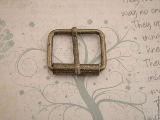 Другие виды рукоделия ручной работы. Ярмарка Мастеров - ручная работа. Купить Пряжка RRT 25мм антик. Handmade. Серебряный