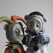 Куклы и игрушки handmade. Livemaster - original item Pierrot and harlequin. Handmade.
