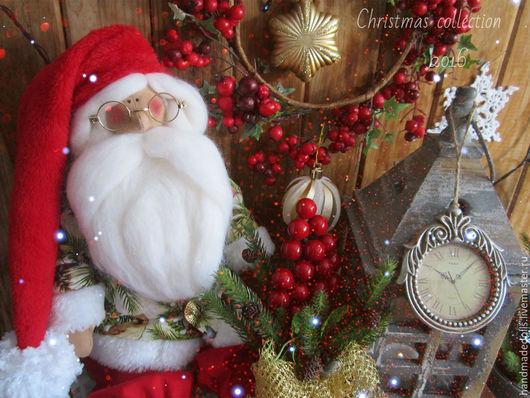 Куклы Тильды ручной работы. Ярмарка Мастеров - ручная работа. Купить Новогодние зарисовки . Большой Санта и мадемуазель Лиззи !!. Handmade.