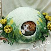 """Для домашних животных, ручной работы. Ярмарка Мастеров - ручная работа Домик для котика """"Одуванчики"""". Handmade."""