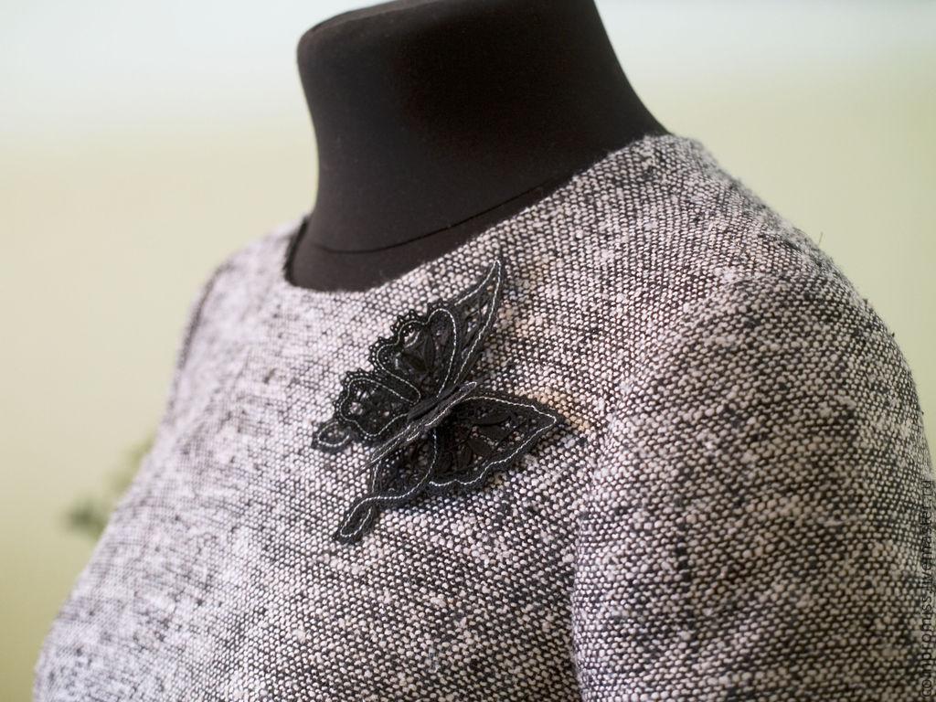 платье с кружевным воротничком. индивидуальный пошив