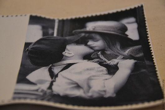 """Обложки ручной работы. Ярмарка Мастеров - ручная работа. Купить Обложка на паспорт """"Первый поцелуй"""". Handmade. Чёрно-белый"""
