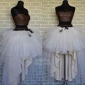 Одежда handmade. Livemaster - original item Tulle skirt with train. Handmade.
