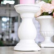 Для дома и интерьера handmade. Livemaster - original item The average candle-stand made from concrete Provence, Vintage, Shabby chic. Handmade.