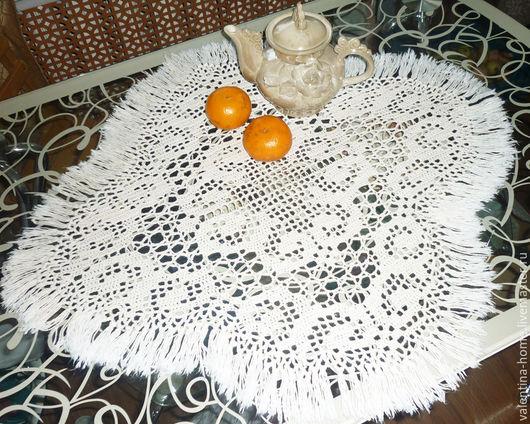 Текстиль, ковры ручной работы. Ярмарка Мастеров - ручная работа. Купить Салфетка вязаная белая. Handmade. Белый, Салфетка вязаная