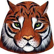 """Для дома и интерьера ручной работы. Ярмарка Мастеров - ручная работа Шапка для бани """"Тигр"""". Handmade."""