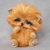 Куклы и игрушки ручной работы. Ярмарка Мастеров - ручная работа котёнок тедди Рыжик. Handmade.