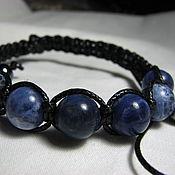 "handmade. Livemaster - original item Браслет Шамбала содалит ""Голубая планета Прайм"". Handmade."