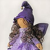 Куклы и пупсы ручной работы. Ярмарка Мастеров - ручная работа Кукла-бабочка. Фиолетовая. Интерьерная кукла.. Handmade.