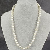 Работы для детей, handmade. Livemaster - original item Natural river pearl beads with silver fittings. Handmade.