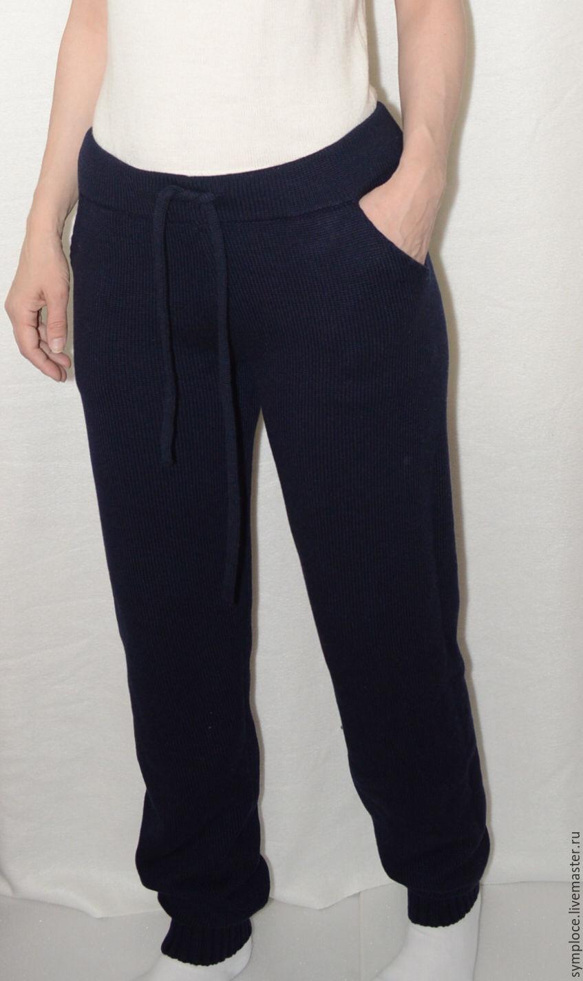Вязаные брюки