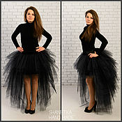 Одежда handmade. Livemaster - original item Tutu skirt is made of tulle with a train. Handmade.