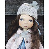 Куклы и игрушки ручной работы. Ярмарка Мастеров - ручная работа Кукла в розовом пальто. Handmade.