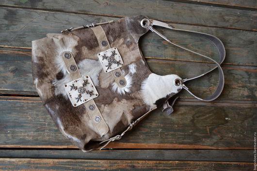 """Женские сумки ручной работы. Ярмарка Мастеров - ручная работа. Купить Копия работы cow-сумка """"Гренландия """" серебре. Handmade."""