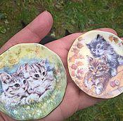 Винтаж ручной работы. Ярмарка Мастеров - ручная работа 1980-е Royal Patrician. Две миниатюрные тарелочки.. Handmade.