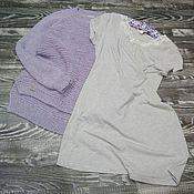 Одежда ручной работы. Ярмарка Мастеров - ручная работа Пуловер лавандовый. Handmade.