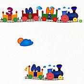 Дизайн и реклама ручной работы. Ярмарка Мастеров - ручная работа Баннер для магазина детских игрушек. Поезд из Ромашково.. Handmade.