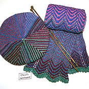 Аксессуары ручной работы. Ярмарка Мастеров - ручная работа Вязаная комплект  аксессуаров берет (шапка) и шарф. Handmade.