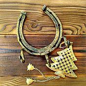 Для дома и интерьера handmade. Livemaster - original item Wrought iron key holder Horseshoe 3 hook. Handmade.