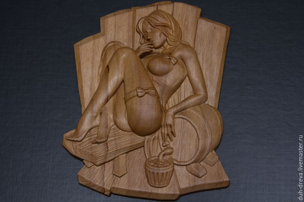 Wooden decor for the bath