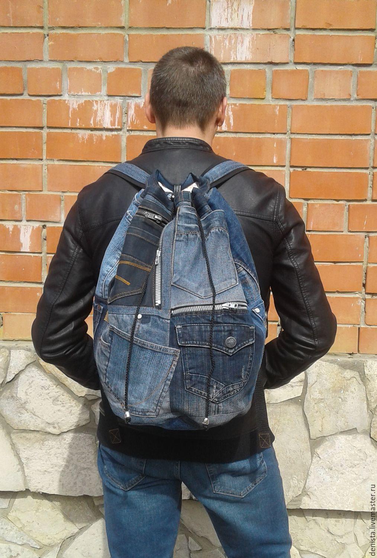 Backpack denim KhayfaII, Backpacks, Saratov,  Фото №1